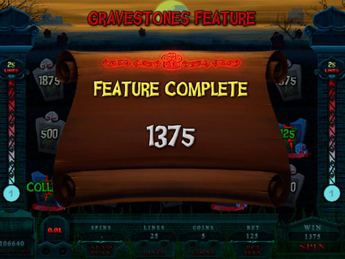 free Alaxe in Zombieland slot gravestones feature total prize