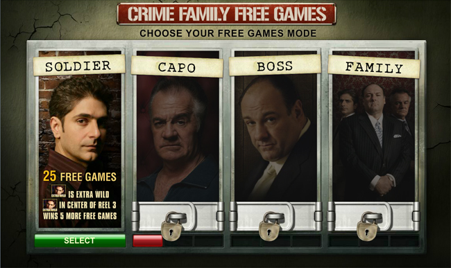 free The Sopranos slot bonus feature