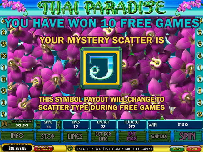 free Thai Paradise slot bonus feature