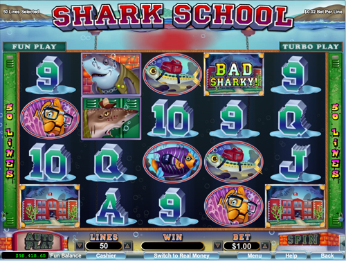 free Shark School bonus feature