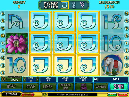 free Thai Paradise free spins mystery scatter win