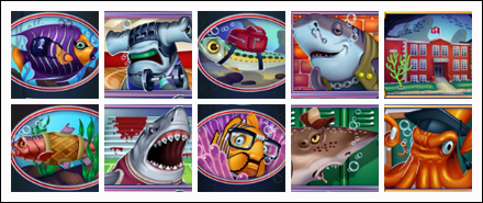 free Shark School slot game symbols