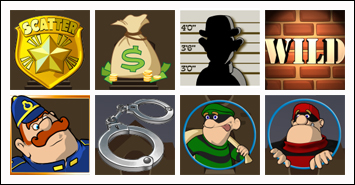 free Cops & Bandits slot game symbols