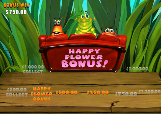 free Happy Bugs slot bonus feature