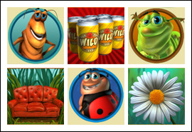 free Happy Bugs slot game symbols