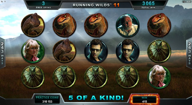 free Jurassic Park slot bonus feature
