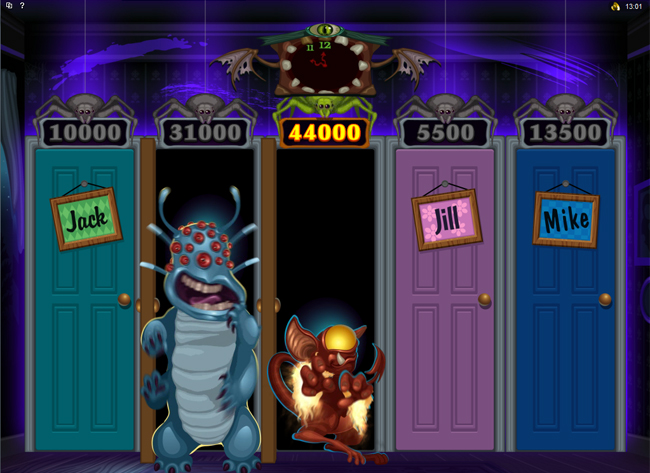 free Monsters In The Closet slot bonus feature