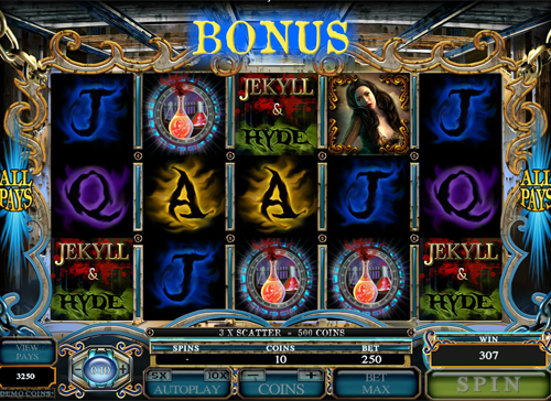 free Jekyll and Hyde free games twister feature