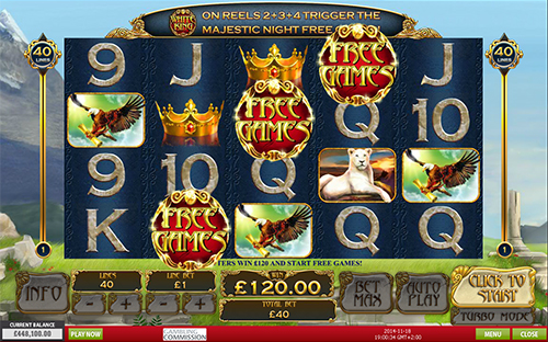 free White King free spins feature