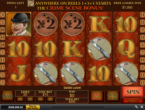 free Sherlock Mystery free spins feature