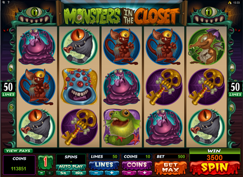 free Monsters In The Closet Bonus Game Feature