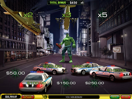 free Incredible Hulk 50 Lines helicopter bonus stage