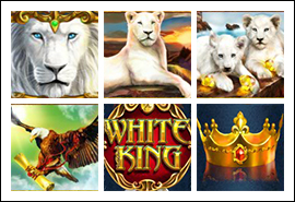free White King slot game symbols