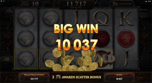 free Game of Thrones - 15 Lines free games big win