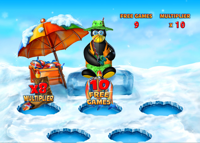 free Penguin Vacation slot bonus feature