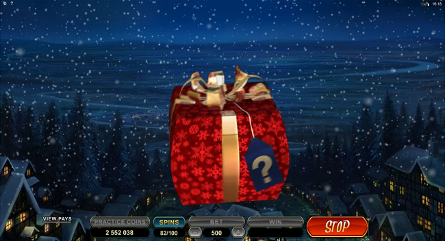 free Secret Santa slot bonus feature