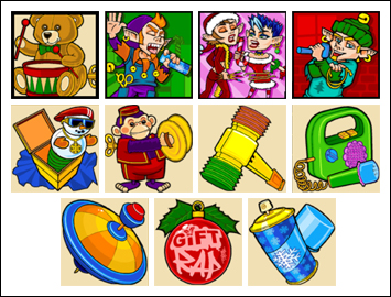 free Gift Rap slot game symbols