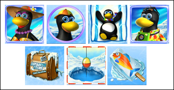 free Penguin Vacation slot game symbols