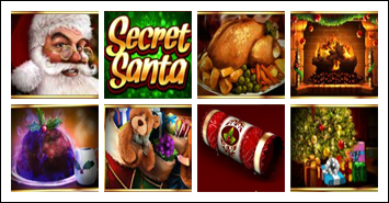 free Secret Santa slot game symbols