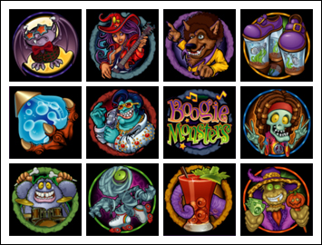 free Boogie Monsters slot game symbols