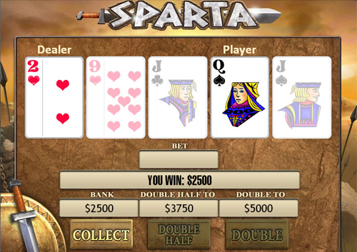 free Sparta gamble feature