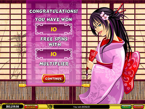 free Geisha Story free spins feature