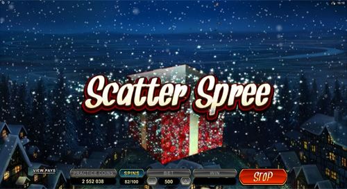 free Secret Santa bonus feature Scatter Spree