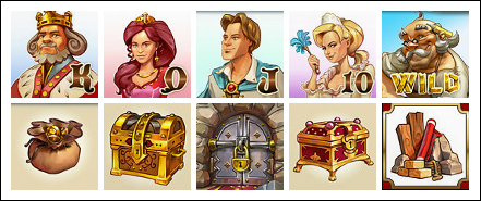 free Castle Builder slot game symbols