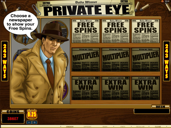 free Private Eye slot bonus feature