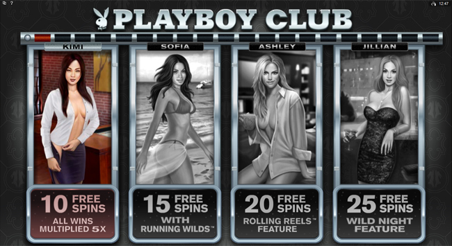 free Playboy slot bonus feature