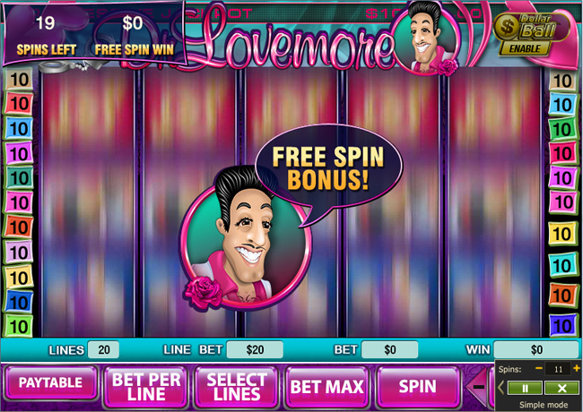 free Dr Lovemore slot bonus feature