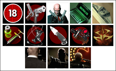 free Hitman slot game symbols
