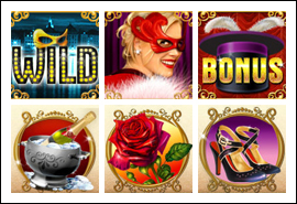 free La Chatte Rouge slot game symbols
