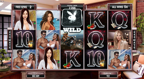 free Playboy free spins feature