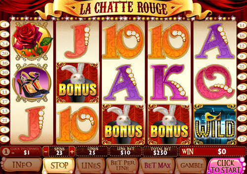 free La Chatte Rouge bonus game feature