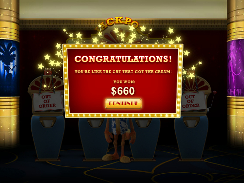 free Cat in Vegas bonus slot game win