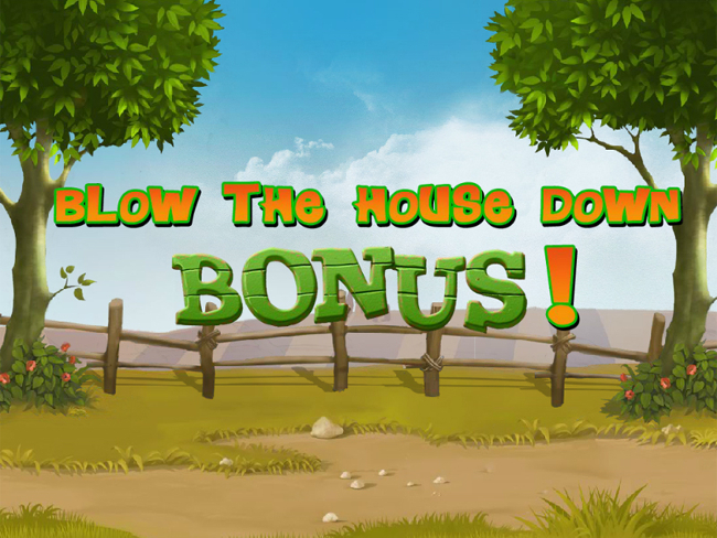 free Piggies and the Wolf slot bonus feature