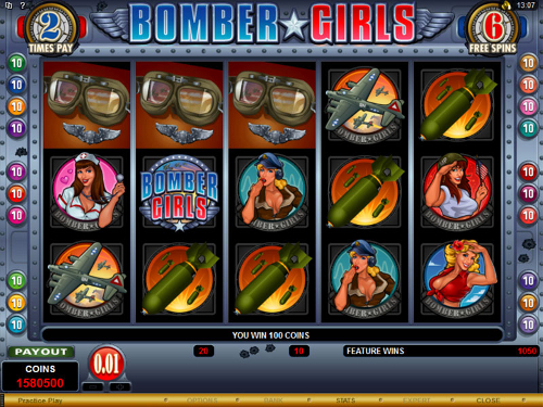 free Bomber Girls free spins feature
