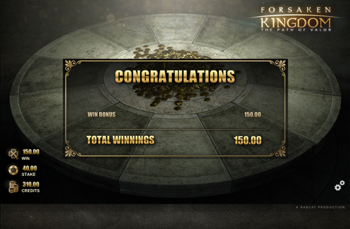 free Forsaken Kingdom feature win