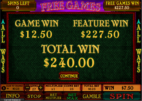free Archer free spins feature