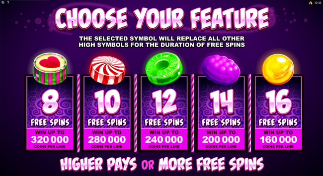 free So Much Candy slot bonus feature