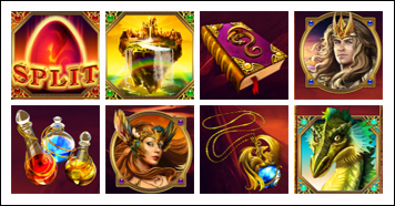 free Dragon Kingdom slot game symbols