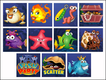 free Fish Party slot game symbols