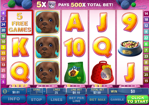 free Cute & Fluffy free spins feature