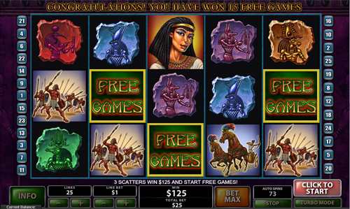 free The Pyramid of Ramsses free spins feature