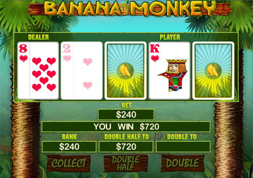 free Banana Monkey Gamble Feature