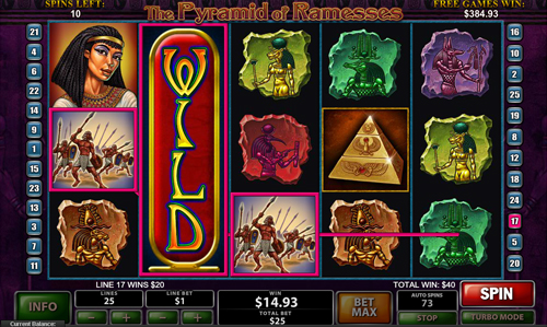 free The Pyramid of Ramsses free games twister feature