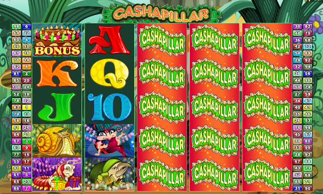 free Cashapillar slot bonus feature