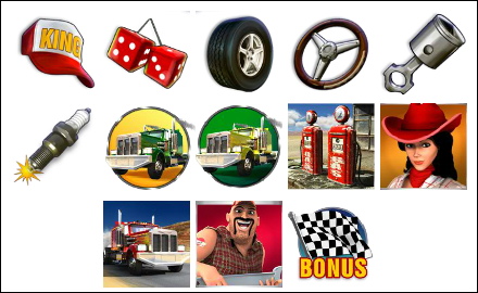 free Highway Kings Pro slot game symbols