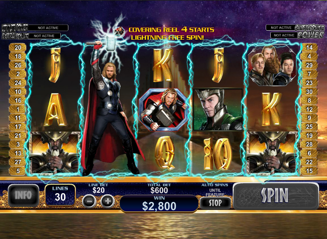 free Thor the Mighty Avenger slot bonus feature